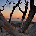 Morris Island Lighthouse Sunrise 2 by Don Keisling