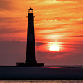 Morris Island Lighthouse Sunrise by Donnie Whitaker