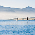 Morro Bay Paddle Boarders by Bill Brennan - Printscapes
