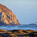 Fishing Trawler At Morro Rock by Flying Z Photography by Zayne Diamond