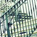 Mosaic And Iron Staircase La Quinta California Art District In Mint Tones Photograph By Colleen by Colleen Cornelius