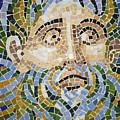 Mosaic Face Fountain Detail by Teresa Mucha