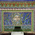 Mosaic Fountain At Getty Villa 3 by Teresa Mucha