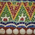 Mosaic Fountain Pattern Detail 4 by Teresa Mucha