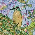 Mosaic Of Blue Jay by Deborah Benoit