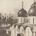 Moscow, Domes Of Churches In The Kremlin by Roger Fenton