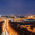 Moscow Night Panorama by Petr Smirnov