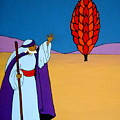 Moses And The Burning Bush by Stephanie Moore