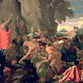 Moses Striking Water From The Rock by Nicolas  Poussin