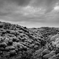 Moss Covered Lava Field Bw by Michael Ver Sprill