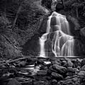 Moss Glen Falls - Monochrome by Stephen Stookey