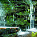 Mossy Falls - 2981 by Paul W Faust - Impressions of Light