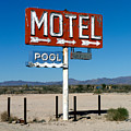 Motel Sign On I-40 And Old Route 66 by Scott Sawyer