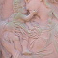 Mother And Child In Red Sandstone by Leonore VanScheidt