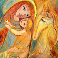 Mother And Child On Horse by Shijun Munns