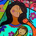Mother And Child V by Pristine Cartera Turkus
