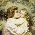 Mother And Daughter  by Thomas Benjamin Kennington