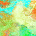 Mother Earth - Abstract Art - Triptych 1 Of 3 by Jaison Cianelli