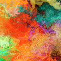 Mother Earth - Abstract Art - Triptych 2 Of 3 by Jaison Cianelli