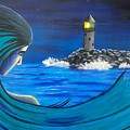 In The Glow Of The Lighthouse  by New Chapter Art