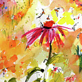 Mother Earth Wild Garden Floral Watercolor by Ginette Callaway
