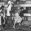 Mother Ganges - Paint Bw by Steve Harrington