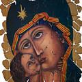Mother Of God Fresco  by OLena Art Brand