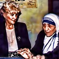 Mother Teresa In Calcutta by Kathy Tarochione