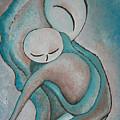 Motherhood Painting My Baby Original Oil By Gioia Albano by Gioia Albano
