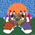 Mothers And Daughters Dancing To The Sun by Walter Neal