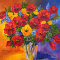 Mothers Spring Flowers by Mary Jo Zorad