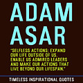 Motivational Quotes - Adam Asar by Celestial Images