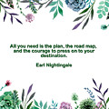 Motivational Quotes - All You Need Is The Plan by Celestial Images