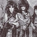 Motley Crue Drawing by Pd