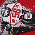 Moto Gp Simoncelli Honda 58 by Roberto Muccilo