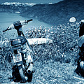 Motor Scooters In Greece by Madeline Ellis