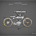 Motorcycle Patent 1918 by Mark Rogan
