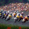 Motorcycle Race by Tom Sachse