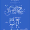 Motorcycle Sidecar Patent 1912 - Blueprint by Finlay McNevin