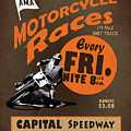 Motorcycle Speedway Races by Mark Rogan