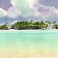Motu Rapota, Aitutaki, Cook Islands, South Pacific by Judith Kunzle