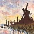Moulin Au Soleil Couchant by Horacio Prada