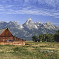Moulton Barn In The Tetons by Sandra Bronstein