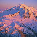 Mount Baker At Sunset by John Chao
