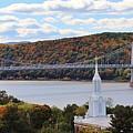 Mount Carmel And The Mid Hudson Bridge by Karen Silvestri