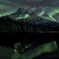 Mount Hood Aurora Borealis I by Gigi Ebert