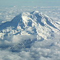 Mount Hood From Above by Helaine Cummins