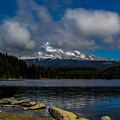 Mount Hood From Across Lake Trillium by Linda Nicol