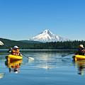 Mount Hood Kayakers by Greg Vaughn - Printscapes