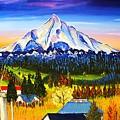 Mount Hood River Valley #1. by Dunbar's Modern Art